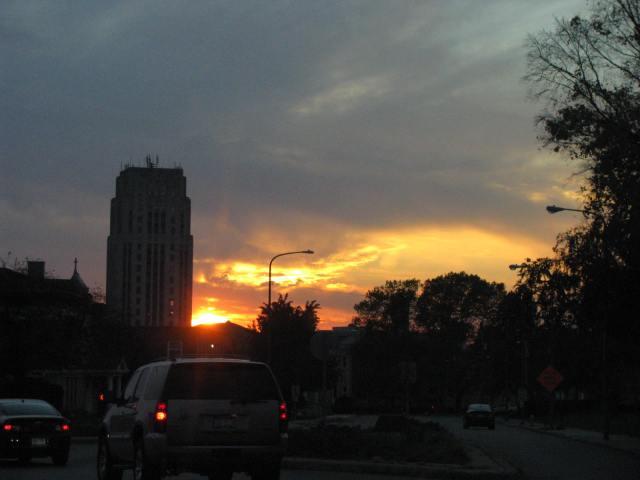 Sunset in Battle Creek, Michigan