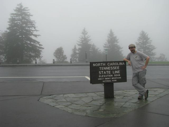Michael Delaware, Realtor and Author in the Great Smoky Mountain National Park September 2012.